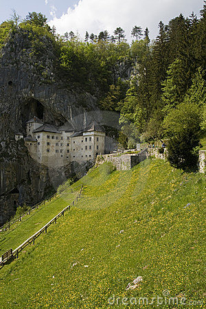 View of a castle built in the cliff