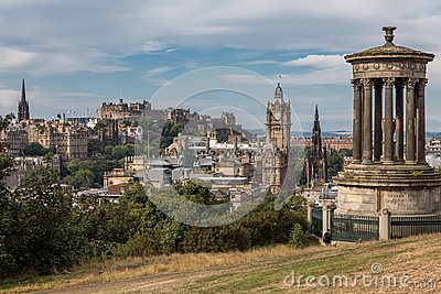 View of the castle from Calton Hill