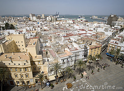 View from cathedral in Cadiz