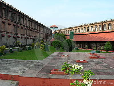 View by the cellular jail premises (india)