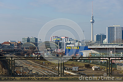 A view of central Berlin Editorial Photo