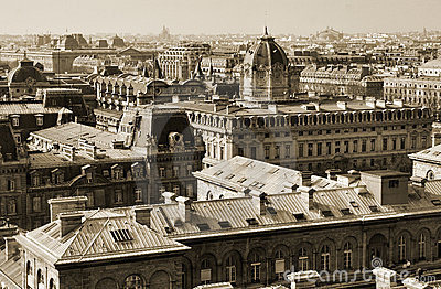 View on central Paris