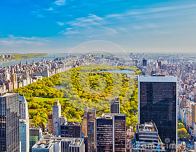 View on central park, New York