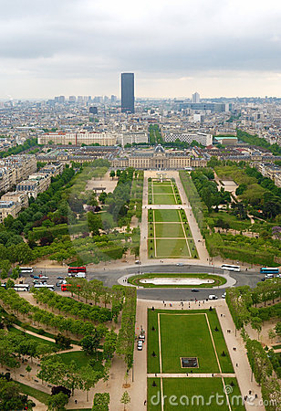 View at Champ de Mars, Paris