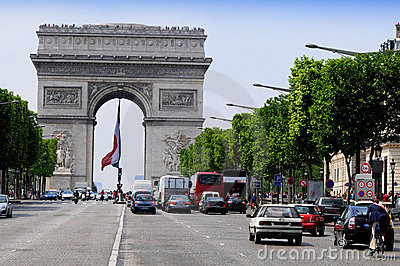 View of the Champs Elysees - Arc de Triomphe