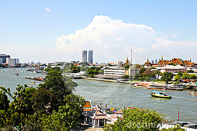 View of the Chao Praya River in Bangkok