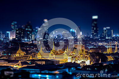 A view of Chao Praya River in twilight. Bangkok, Thailand Stock Photo