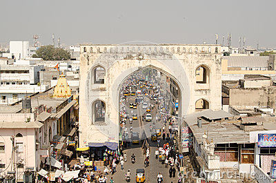 View from Charminar Tower Editorial Image