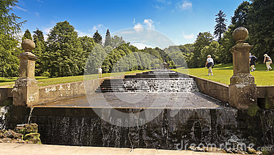 A View of the Chatsworth House Cascade, England Editorial Photography
