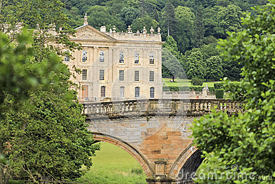 A View of Chatsworth House, Great Britain Editorial Photo