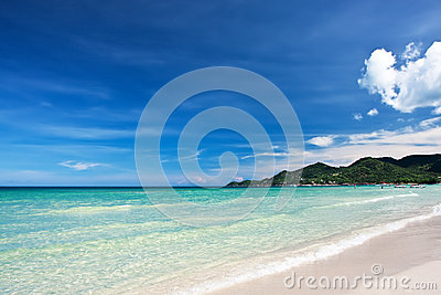 View of Chaweng beach, Koh Samui, Thailand