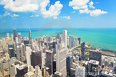 View of Chicago from the Willis Tower Editorial Stock Image