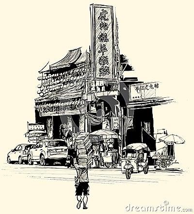 View of chinatown in Bangkok