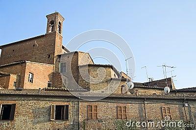 View of Citta  della Pieve. Umbria.