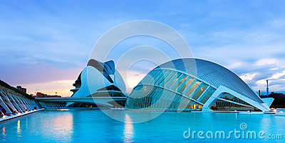 View of City of Arts and Sciences Editorial Photography