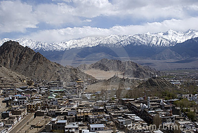 View of the city, Leh, Ladakh, India