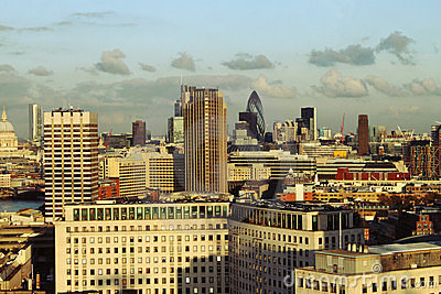 View of city London