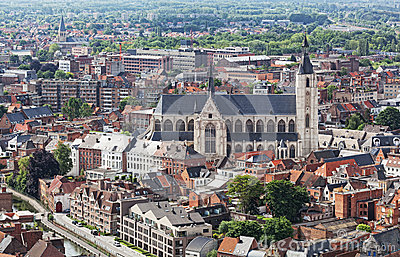 View of the city of Malines