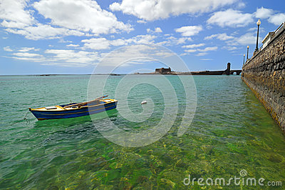 View of coast - Arrecife. Lanzarote.