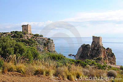View of the coast near Scopello