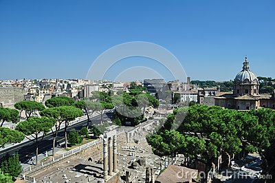 View of the Coliseum Rome