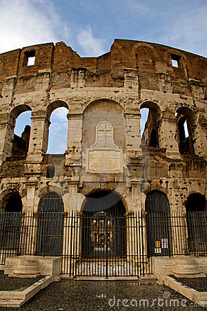 View of the coloseum in Rome