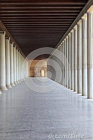 View of column arcade