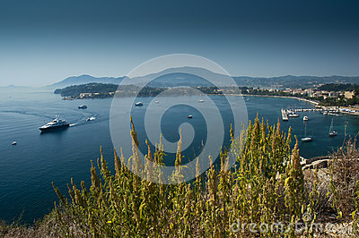 View of Corfu harbour