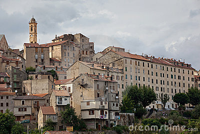 View of Corte, Corsica