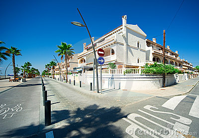 View of Costa Blanca street