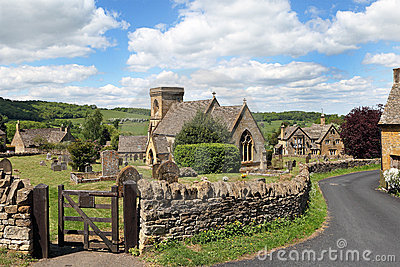 View of  Cotswold village of Snowshill
