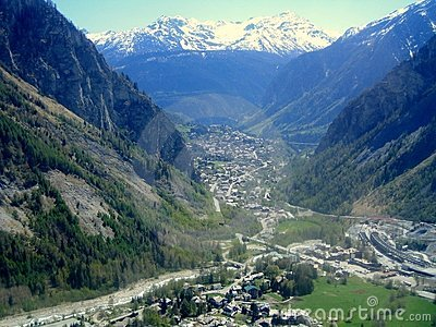 A view of Courmayeur, Aosta Valley, northern Italy