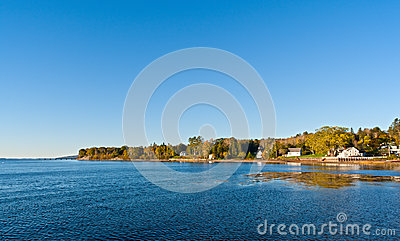 Shoreline of Searsport Maine