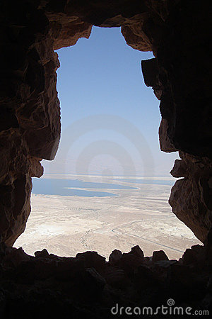 View on dead sea from Masada
