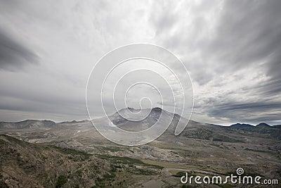 View of devastation around Mt St Helens