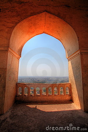 View from Dharbar Hall, Golconda Fort, Hyderabad