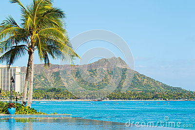 View of Diamond Head, Waikiki,
