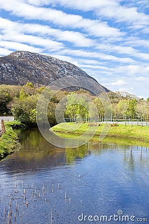 View of the dimond hill in connemara, Ireland.