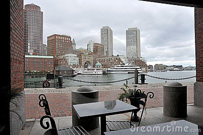 View from the dock at boston harbor
