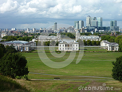 View of Docklands. London banking district Editorial Stock Photo