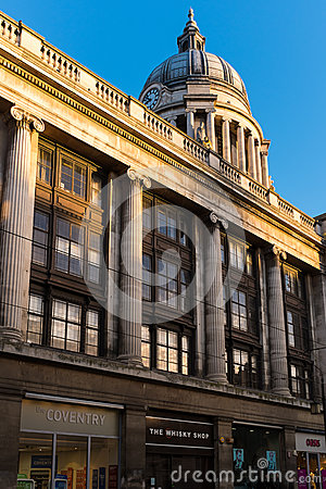 View of the dome of Nottingham City Council House Editorial Image