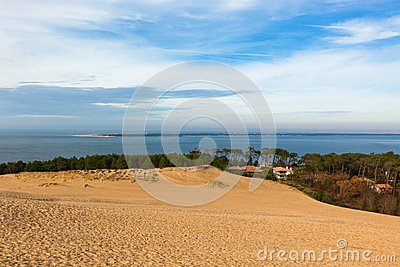 View down from the dune of Pyla