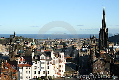 View down High Street from Edinburgh Castle