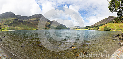View down length of Buttermere in Lake District