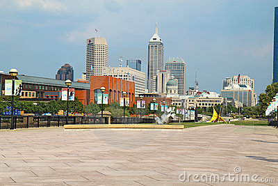 View of downtown Indianapolis, Indiana Editorial Photography