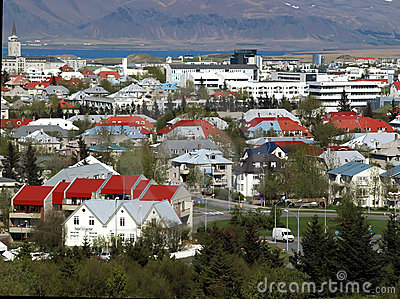 View of Downtown Reykjavik