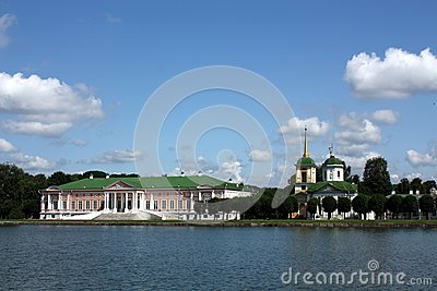 View of the ducal palace and palace church with