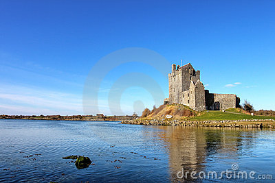 View of the Dunguaire Castle in Kinvara, Ireland.
