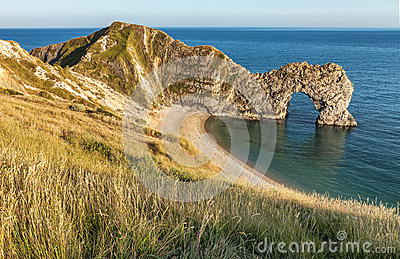 View of Durdle Door in United Kingdom.
