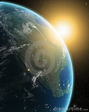 View of the Earth from outer space